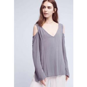 Cloth & Stone Large Cass Cold Open Shoulder Top